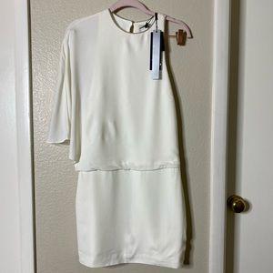 Halston heritage dress draped mini size 2